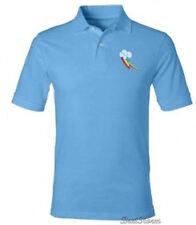 My Little Pony BRONY Rainbow Dash POLO Collar Blue Shirt SLIM FIT FIM 2XL NEW