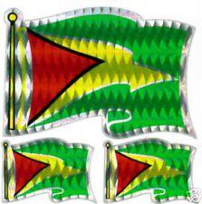 Co-operative Republic Guyana TriFlag Sticker LOT  NEW