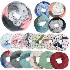 Glamexx24 Punkte - Print Loop Schal warme und leicht Damen Schlauchschal Tuch