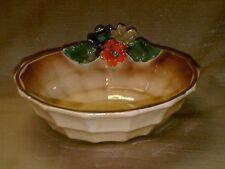 Belgium Pottery Majolica Bowl-Dish-Tilff-Leaves Flowers