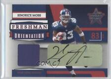 2006 Leaf Rookies & Stars FO-12 Sinorice Moss New York Giants Auto Football Card