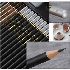 Professional Drawing Sketch Pencils - Medium - Metal Box (12B - 3H, Set of 29)