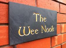 large bespoke custom made deep engraved slate sign house name number