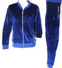 Femmes Velours Survêtement, Time Is Money Hip Hop Streetwear Motard Bleu Roi Fin