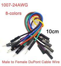 24AWG FILO Dupont Maglione BASETTA Wire del cavo maschio a 8 Colori-Donna 10cm
