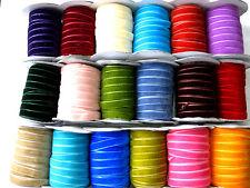 3 Meter Samtband,Borte,Farbe wählbar, 10mm breit,  (3) (0,66€ pro Meter)