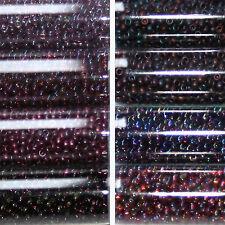 Miyuki Rocailles 11/0 circa 2 mm BORDEAUX, GRANATROT circa 9,9 GRAMMI = 1 provette
