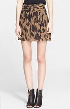 NWT Burberry Brit Camo Print Silk Skirt in honey Retail $295