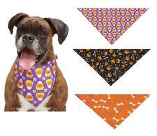 "Festive Halloween Dog Bandanas Fall Seasonal Spirit 19"" Square - Choose Pattern"