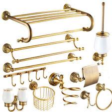 Antique Brass Bathroom Accessories Hardware Set Towel Bar Toilet Paper Holder