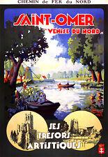 Affiche chemin de fer Nord - St-Omer