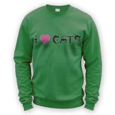 I Love Cats II Sweater -x8 Colours- Gift Pet Kitten Cat Lover Present