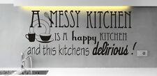 Confuso Cucina Divertente cucinare homeart Muro Citazione Adesivo Vinile Decalcomania Murale Stencil