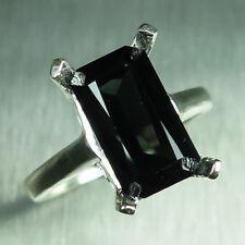 4.7ct Natural Tourmaline dark green 925 Silver, 9ct 14k 18k Gold Platinum ring