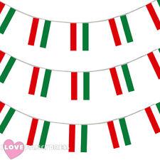 Bandera de Hungría empavesado 33FT húngaro Decoración 20 banderas 10 metros Fútbol Euro