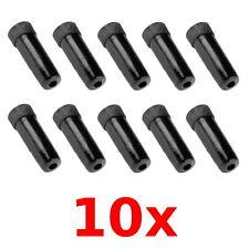 10 Embouts de gaine cable dérailleur noir plastique vélo vtt vintage fixie frein