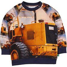 Green Cotton Freds World Sweatshirt Bulldozer   Gr. 110 116 122 128 134