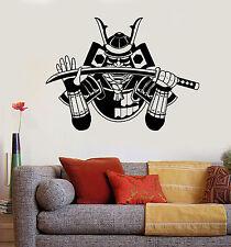 Vinyl Wall Decal Samurai Japanese Warrior Katana Armor Stickers Mural (ig4949)