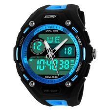 New Fashion Men's Waterproof Digital Alarm Date Sport Analog Watch LED Backlight