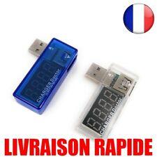 Voltmètre Ampèremètre Intelligent Électronique Numérique USB Tension Testeur