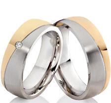 Eheringe Trauringe mit echtem Diamant Verlobungsringe mit Lasergravur EDB14