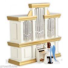 Langrock-Engel an der Orgel farbig mit Spielwerk Fa.Blank Erzgebirge Spieluhr