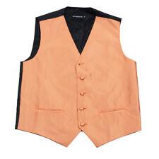 Men's Orange Pattern Tuxedo Vest Formals Weddings Proms Fashion Waistcoat