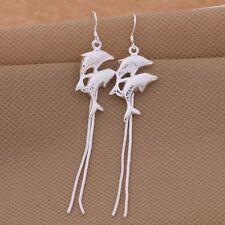Ohrringe Delfin Delphin  -  Silber plattiert Ohrringe Schmuck Damen  S441