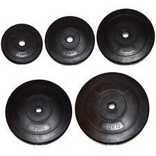 """FXR SPORTS 1"""" STANDARD 1.25-10kg VINYL WEIGHT PLATES DISCS WEIGHTS FITNESS GYM"""
