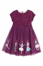 Boden Girls Dress Velvet Dancing Kitties Party Christmas NEW 2 3 4 5 Years