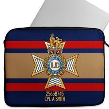 Personalised Laptop Sleeve LIGHT DRAGOONS Neoprene Case Army MC15