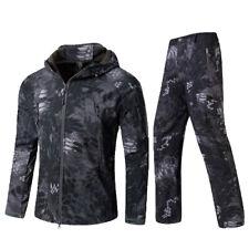 Hot-Sale*Men Soft shell Suit Men Tactical Jackets Windbreaker Hunting Coat+Pants