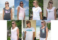 ON SALE American Apparel Tee T Shirt Beach Hawaii Coral Fish Seahorse Tank Top