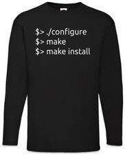 Configure Make Install Long Sleeve T-Shirt Fun Geek Nerd Computer Scientist