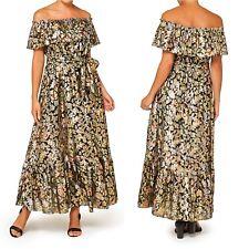 NEW SPORTSGIRL Foiled Silk Maxi Dress Multi Coloured Various Sizes Tags