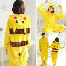 Adults Kids Pikachu Pokemon Animal Sleepwear Pajamas Cosplay Costumes Jumpsuit