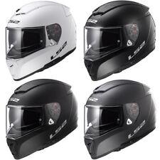 LS2 FF390 DVS Solid Full Face Motorbike Motorcycle Helmet Bluetooth Ready Plain