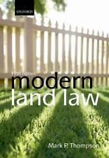 Modern Land Law, Thompson, Mark P., Good, Paperback