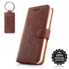 Surazo ® premium maletín de cuero auténtico funda TPU nobuck cartera case-motivo flores