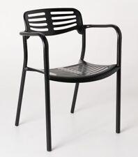 Contemporary Modern Design Aluminium Black Toledo Cafe Chair Jorge Pensi 2x pcs