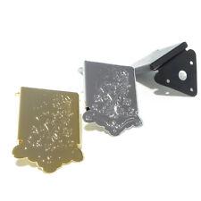 Calidad Mandolina cordal En Cromo Negro U Oro Grabado Cola Pieza