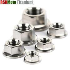 Titanium Flange Hex Nuts: M5x0.8, M6x1.00, M7x1.00, M8x1.25, M10x1.25, M12x1.25