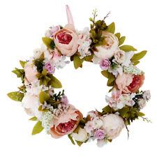 ghirlanda di fiori in rattan artificiale porta d'ingresso ghirlanda