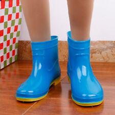 Women Ankle Short Rain Boots Waterproof Rubber Anti-Skid Flat Heel Rubber Shoes