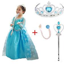 Kids Queen Elsa Dresses Elsa Costumes Princess Anna Dress Girls Party Clothing