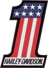 Toppa Harley Davidson modello nr. 11 bandiera USA nr. 1 ca. 7,6 cm a 5,2 cm
