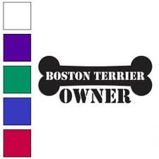 Boston Terrier Owner Bone Decal Sticker Choose Color + Size #1639