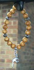In Car Wood Wooden Beads & Kangaroo Pendant Charm Animal Lovers Gift Souvenir