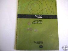 John Deere 110 Lawn & Garden Tractor Operators Manual