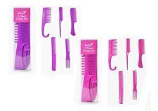 Pretty 5 Piece Comb Set, Pink Or Purple